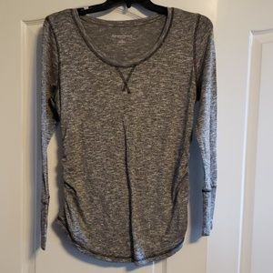 Liz Lange Maternity gray long sleeve top